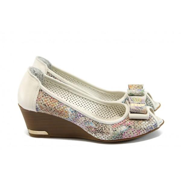Анатомични дамски обувки на платформа МИ 267 бял
