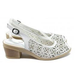 Анатомични сандали от естествена кожа МИ 06 бял