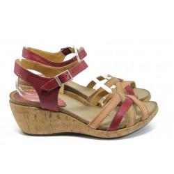 Анатомични дамски сандали на платформа ИО 1574 малина