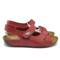 Анатомични дамски сандали Jump 10691 червен