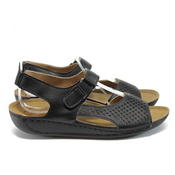 Анатомични дамски сандали Jump 13409 черен