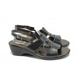 Анатомични дамски сандали на ток ГР 6973 черен