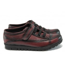 Анатомични дамски обувки от естествена кожа МИ 15-001 бордо