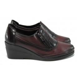 Анатомични дамски обувки на платформа МИ 201-134 бордо