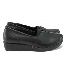 Дамски ортопедични обувки от естествена кожа МИ 012 черен