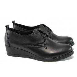 Дамски ортопедични обувки от естествена кожа НБ 16233-997 черен