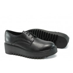 Дамски ортопедични обувки от естествена кожа НБ 16421-853 черен