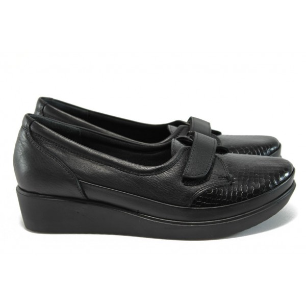 Дамски ортопедични обувки от естествена кожа МИ 014 черен