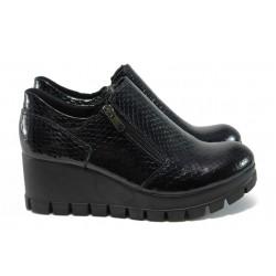 Анатомични дамски обувки на платформа МИ 300-7211 син