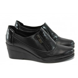 Анатомични дамски обувки на платформа МИ 201-134 черен