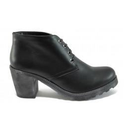 Анатомични дамски обувки от естествена кожа ГА 702-1 черен