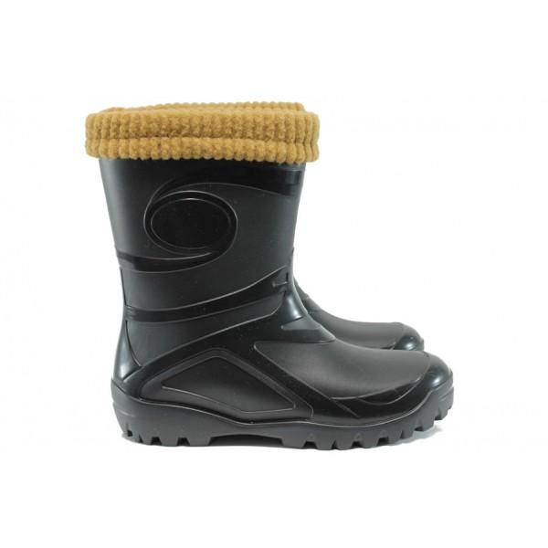Гумени ботуши с топъл чорап от естествена вълна Demar 0462 черен 36/41 | Гумени ботуши | MES.BG