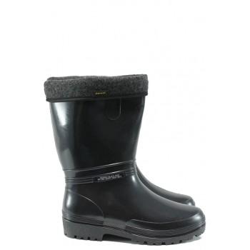 c09a7b90cd6 Гумени ботуши с топъл свалящ се чорап Demar 0052 черен 36/41 | Гумени ботуши