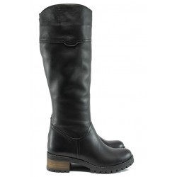 Дамски ботуши от естествена кожа МИ 265 черен | Дамски ботуши | MES.BG