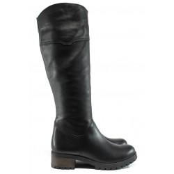 Дамски ботуши от естествена кожа МИ 265 черен гигант | Дамски боти | MES.BG