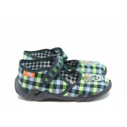 Анатомични детски обувки МА 13-105 зелено каре 20/25