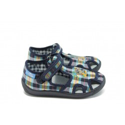 Бебешки анатомични сандали МА 13-141 син каре-пират