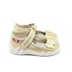 Анатомични детски обувки МА 13-139 злато 21/25