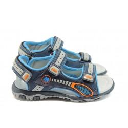 Детски сандали с анатомична стелка КА 949 син 31/36