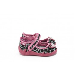 Анатомични бебешки обувки с лепенка МА 13-139 пантера с панделка 21/25