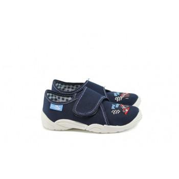 Анатомични детски обувки с лепенка МА 23-373 т.син формула 26/35