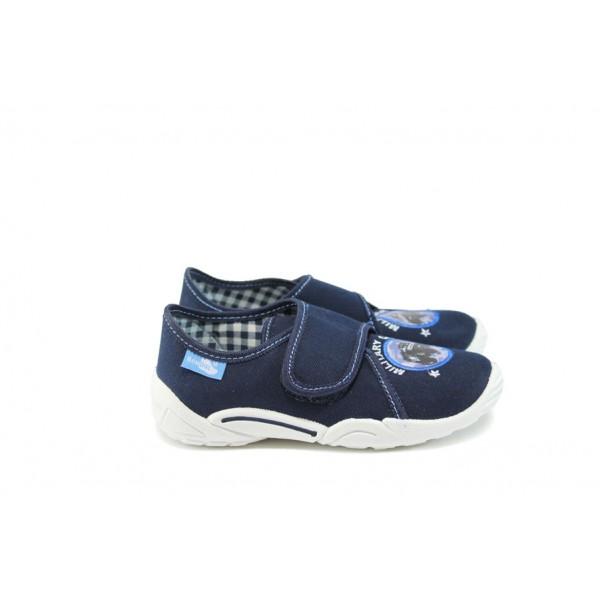 Анатомични детски обувки с лепенка МА 23-373 т.син джип 27/32