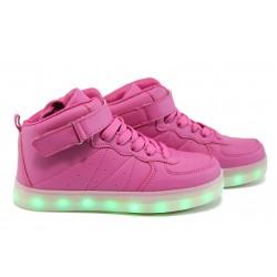 Спортни обувки тип кец със светещо ходило РС 06951 розов 28/34