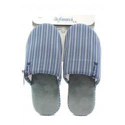 Мъжки анатомични чехли с мемори пяна ДФ ROMA TOP M40 син райе