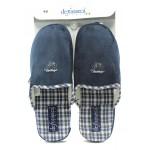 Мъжки анатомични чехли с мемори пяна ДФ CAGLIARI M42 т.син