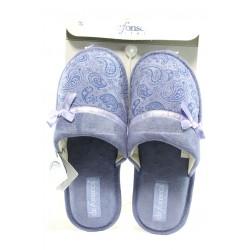 Дамски анатомични чехли с мемори пяна ДФ BARI TOP W45 лилав