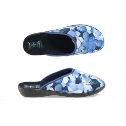 Анатомични дамски домашни чехли с Bio ходило МА 20912 син листа | Домашни чехли | MES.BG