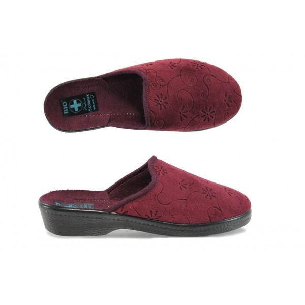 Анатомични дамски домашни чехли с Bio ходило МА 19473 бордо | Домашни чехли | MES.BG