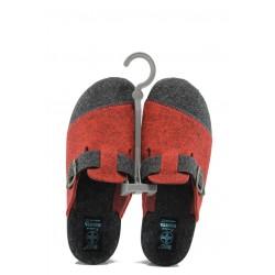 Анатомични дамски домашни чехли с Bio ходило МА 21083 червен | Домашни чехли | MES.BG
