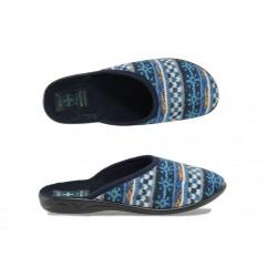 Анатомични дамски домашни чехли с Bio ходило МА 20787 син | Домашни чехли | MES.BG