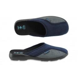 Анатомични мъжки домашни чехли с Bio ходило МА 16079 син-сив | Домашни чехли | MES.BG