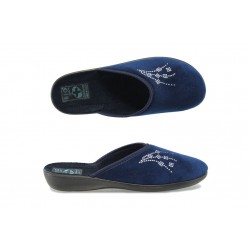 Анатомични дамски домашни чехли с Bio ходило МА 20941 син | Домашни чехли | MES.BG