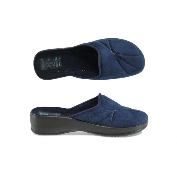 Анатомични дамски домашни чехли с Bio ходило МА 20991 син | Домашни чехли | MES.BG