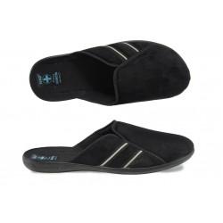 Анатомични мъжки домашни чехли с Bio ходило МА 21139 черен | Домашни чехли | MES.BG