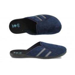 Анатомични мъжки домашни чехли с Bio ходило МА 21140 син | Домашни чехли | MES.BG