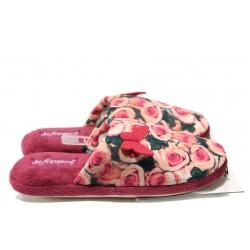 Анатомични дамски домашни пантофи ДФ Roma W68 рози | Домашни чехли | MES.BG