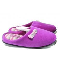 Анатомични дамски домашни пантофи ДФ Torino W47 лилав | Домашни чехли | MES.BG