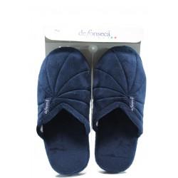 Анатомични дамски домашни пантофи ДФ Milano W06 т.син | Домашни чехли | MES.BG