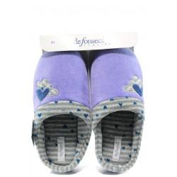 Анатомични дамски домашни пантофи ДФ Firenze W50 лилав | Домашни чехли | MES.BG