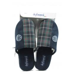 Анатомични мъжки домашни чехли ДФ Roma top M41 син-зелен | Домашни чехли | MES.BG