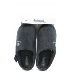 Анатомични мъжки домашни чехли ДФ Firenze M46 сив | Домашни чехли | MES.BG