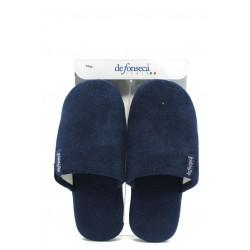 Анатомични мъжки домашни чехли ДФ Roma top M11 т.син | Домашни чехли | MES.BG