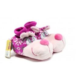 Анатомични домашни пантофи ДФ Coniglio розов | Домашни чехли | MES.BG