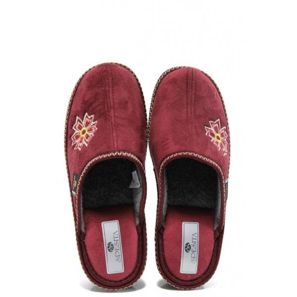 Анатомични дамски домашни чехли Spesita 193 бордо | Домашни чехли | MES.BG