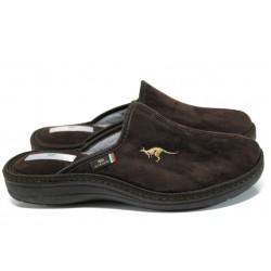 Анатомични мъжки домашни чехли Spesita 778 кафяв | Домашни чехли | MES.BG