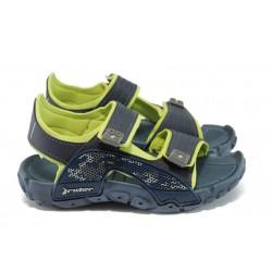 Детски анатомични сандали с лепенки Rider 81484 син-зелен
